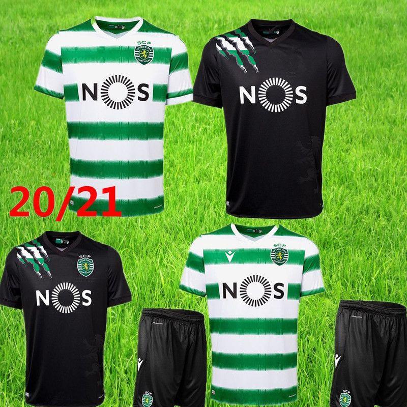 men 20 21 Lisbon third Soccer jersey 2020 2021 Lisbon home PHELLYPE B.FERNANDES ACUNA Maillot black white Football Shirts short