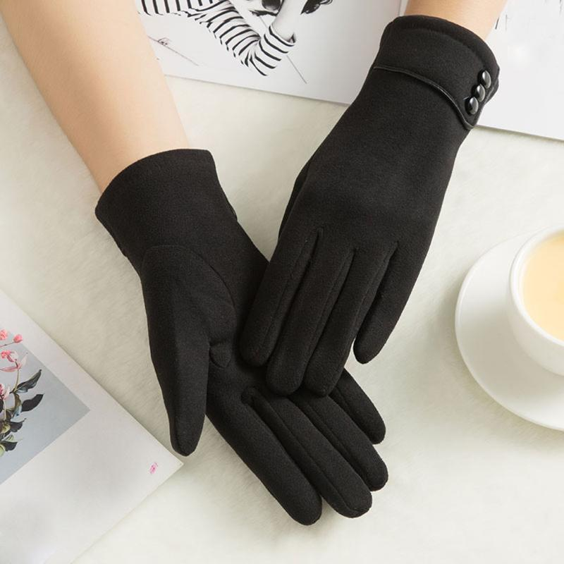 Пять пальцев перчатки женские зимние теплые наручные варежки вождения лыжная перчатка сенсорное экран дышащий без пальцев тренажерный зал Invierno mujer1