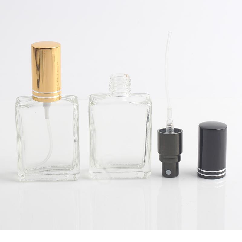 1 pièce 15ml bouteille de parfum de verre transparent avec pulvérisation Mini Voyage vide réutilisable avec bouteille de pulvérisation Cosmétique C bbym
