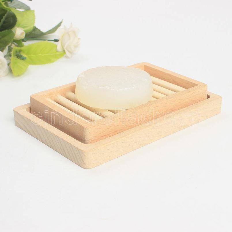 Original Rack Seifenschale Aufbewahrungsbox Geschirr Doppel DIY Zwei Schichten Deck Frau Mann Modebedarf Holzhalter Bad