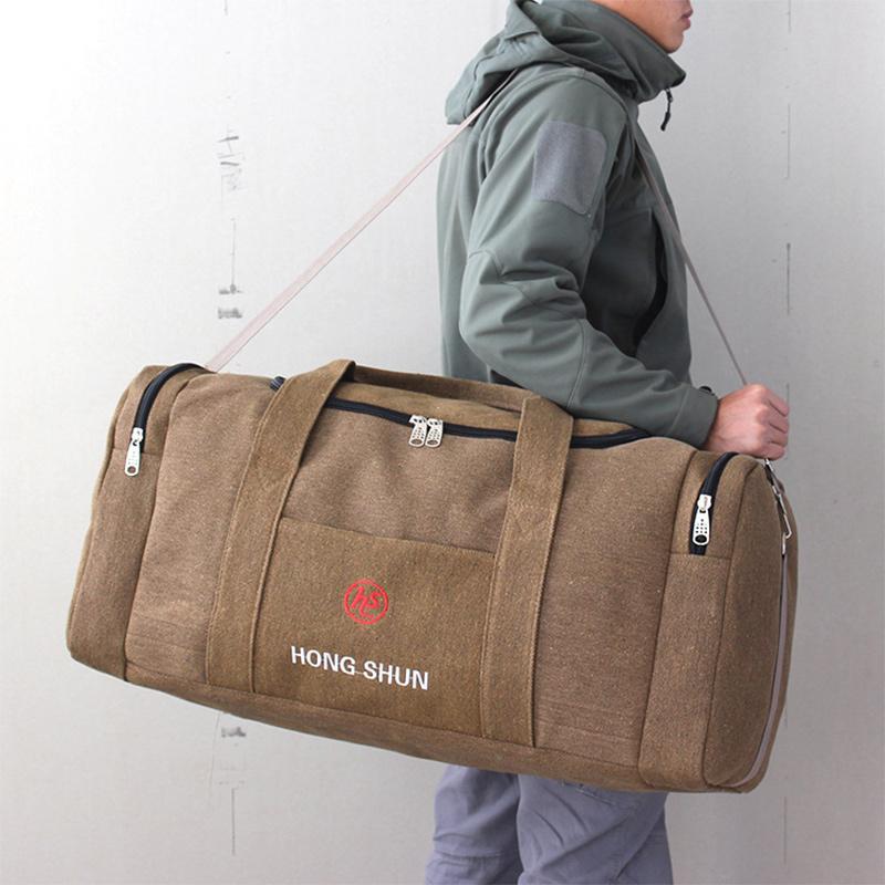 Borse di tela da uomo di viaggio di grande capienza Duffel di viaggio bagaglio a mano sacchetto multifunzionale Weekend Bag Sac de XA243K