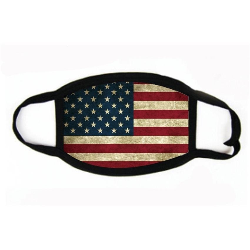 Respiração Válvula de moda designer de algodão máscara dobrável protetor à prova de poeira americana bandeira de ciclismo de ciclismo máscaras # 341