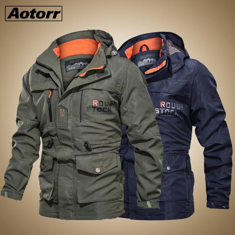 2020 Bomber Autumn Winter Multi-pocket Waterproof Military Tactical Jacket Windbreaker Men Parkas Outdoor Stormwear