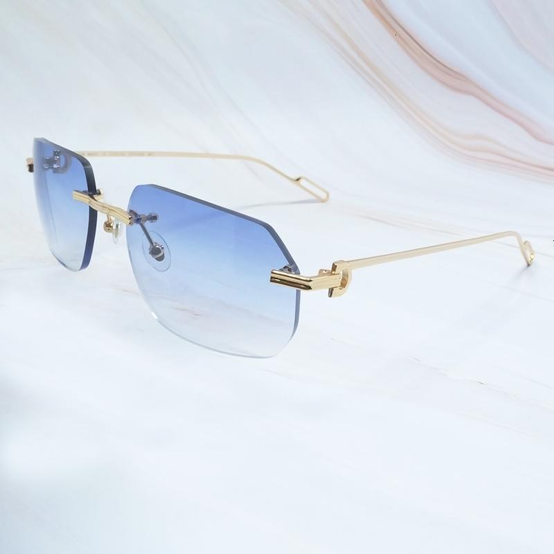 Luxus-Sonnenbrille-Männer Carter Designer Sonnenbrillen Frauen Driving Shades Sommer-kühle Dekoration Carters Metall Randlos Sunglass billiger
