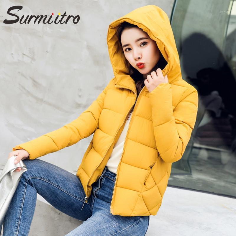 Surmiitro Kadınlar Kış Aşağı Ceket 2019 Kış Sıcak Kirpi Parka Uzun Kollu Pamuk Yastıklı Kapüşonlu Ceket Bayan1