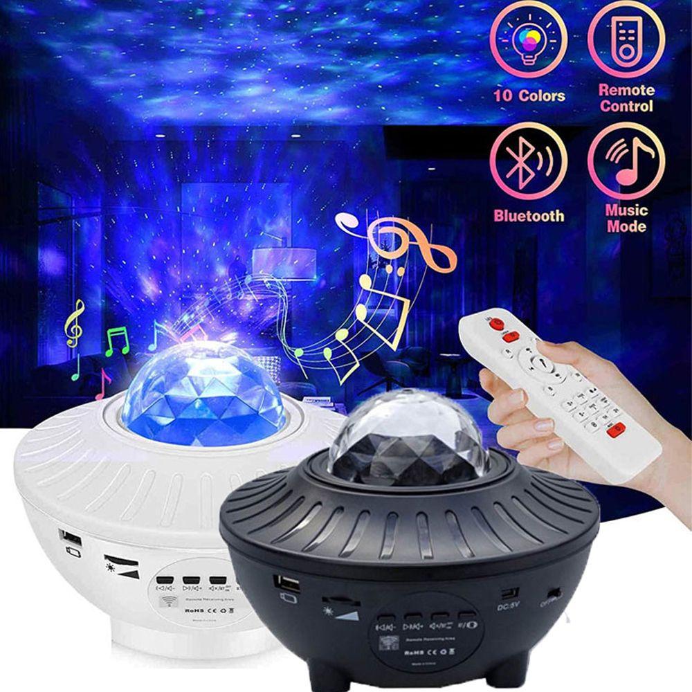 2020 ليزر جديد للتدوير بلوتوث الذكية ستار العارض أضواء ليلة للأطفال سكاي المحيط كوف أورورا الموسيقى