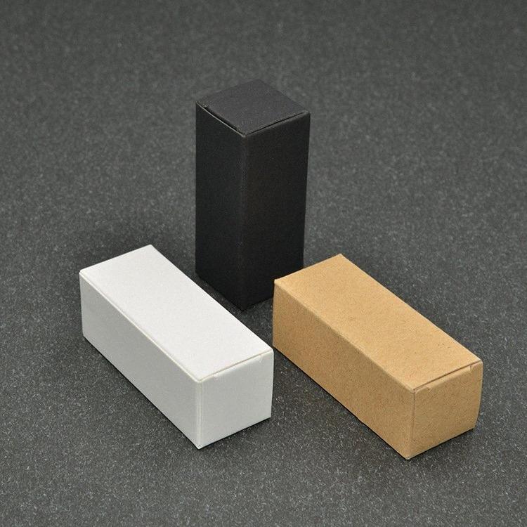 100pcs 10ml / 20ml / 30ml / 50ml / 100ml Blanco Negro Caja de papel Kraft de gotero de aceite esencial Sprays de válvulas y tubos de muestra paquete 1Z1k #