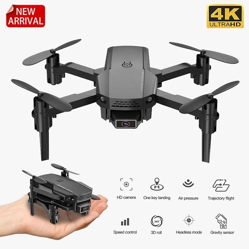 Neue Mini-Drohne KF611 4K HD-Kamera Wifi FPV-Luftdruckhöhe Hold Black and Grey Faltbare Quadcopter RC Drohne Spielzeug 201221