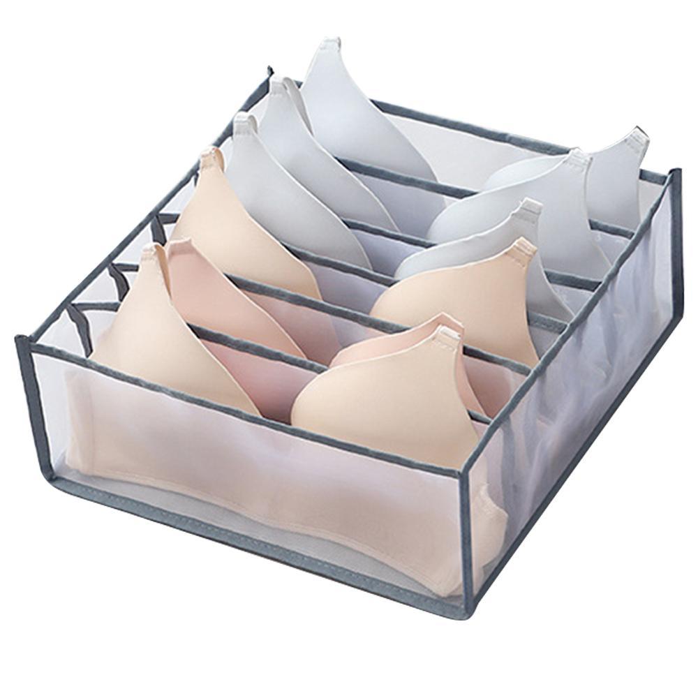 1/3Pcs Underwear Bra Organizer Storage Box 5 Colors Drawer Closet Organizers Boxes For Underwear Scarfs Socks Bra