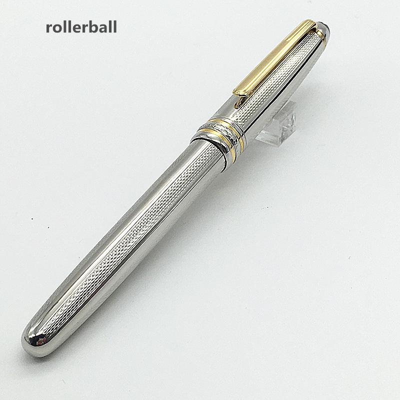 Stylo de luxe Montel Mst-Exquis Texture Texture Stylo métallique Fournitures à pateaux en métal stylo à rouleau en métal avec numéros de série et encre noire 0.7mm