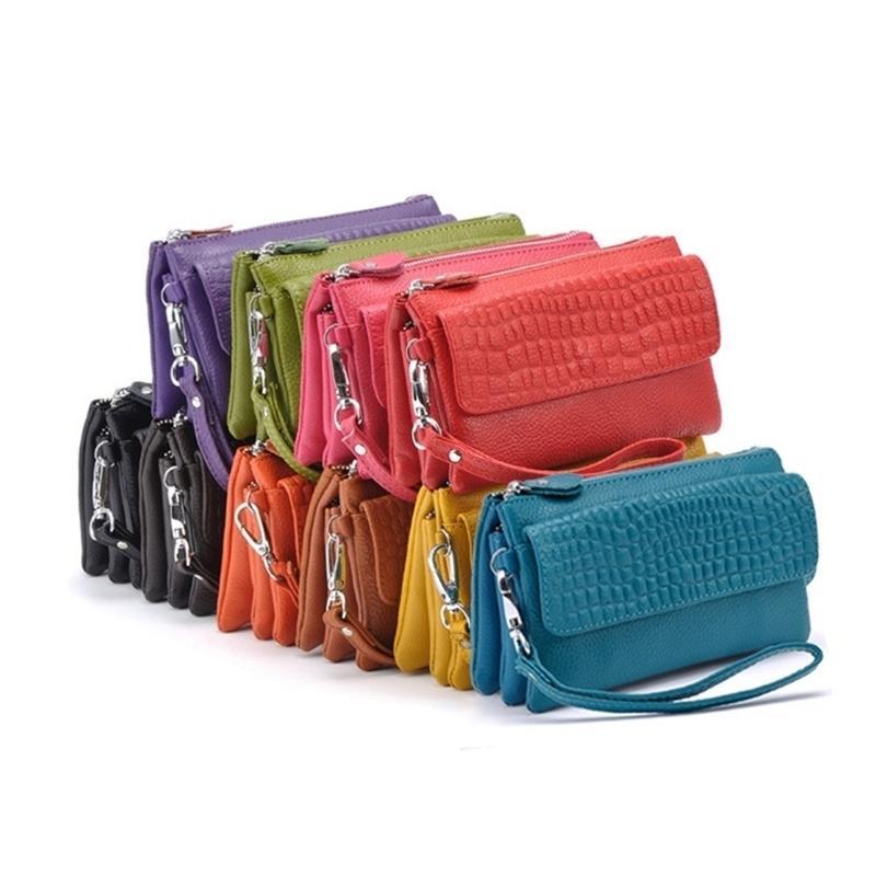 Embrayage pour femme Sac multifonction Sac multifonction Véritable sac à monnaie en cuir maquillage Sac de soirée, YB-DM608 Y201224