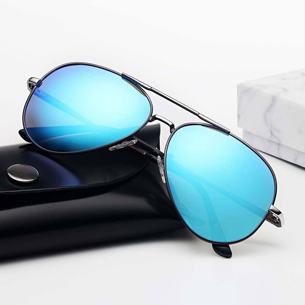 Lente homens vintage polarizado sol hd sunglasses clássico marca homens / wome para revestimento leimi óculos de condução de alumínio tons llbep