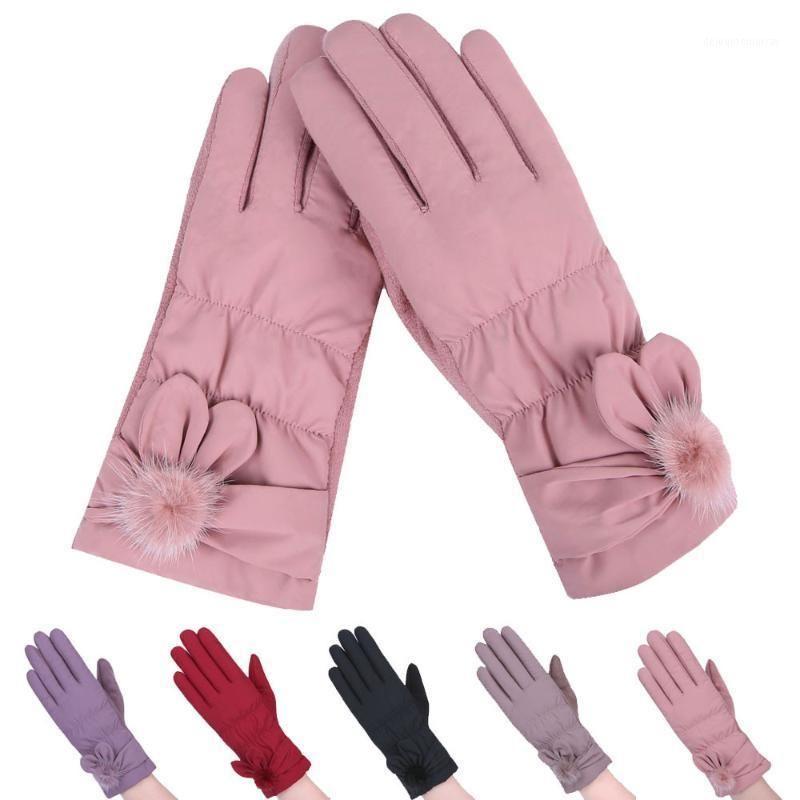 Guanti da donna alla moda Guanti e guanti antivento Guanti da esterno invernale Guanti da sci Sport all'aperto Tenere caldo Mitten Hiver Femme Luva Modis1