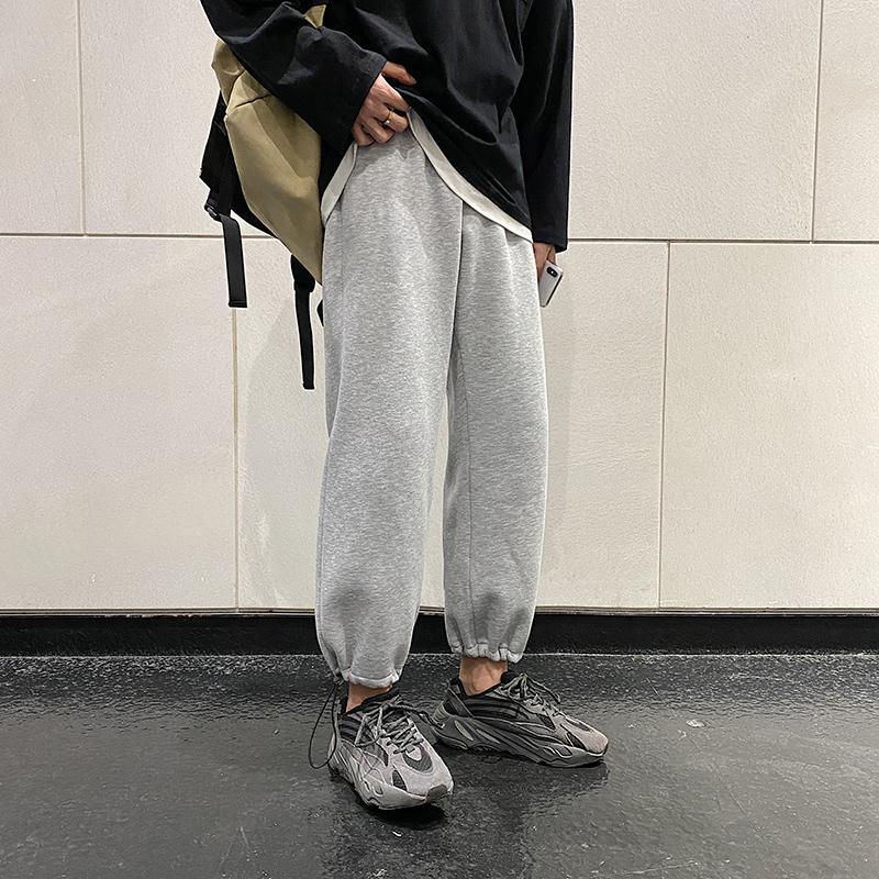 Moda pantalones de chándal de los hombres de color sólido Joggers ocasionales de los pantalones de los hombres de Calle Pantalones deportivos salvaje flojo Hip Hop Pantalones para hombre M-3XL 201006