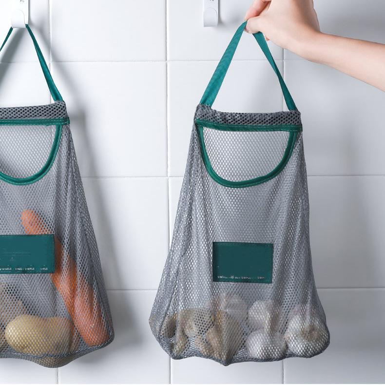 تنظيم المطبخ الخضار حقيبة تخزين متعددة الأغراض الإبداعية الفاكهة الجدار شنقا حقيبة قلامة البصل الثوم أكياس تخزين المطبخ XD24469