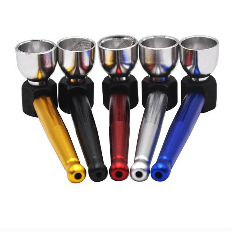 novo tipo europeu e americano popular do pequeno pote de tabaco para cachimbo de metal tubulação