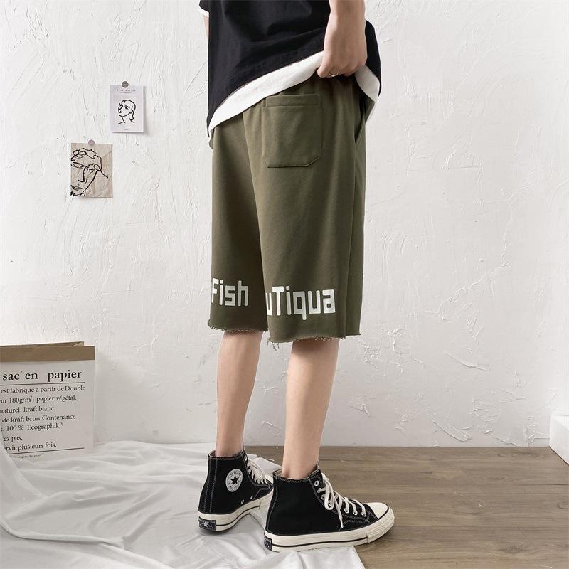 Shorts pour hommes 2020 Mode d'été Marque SER 7-Point Loose Pantalon de 5 points Outillage occasionnel