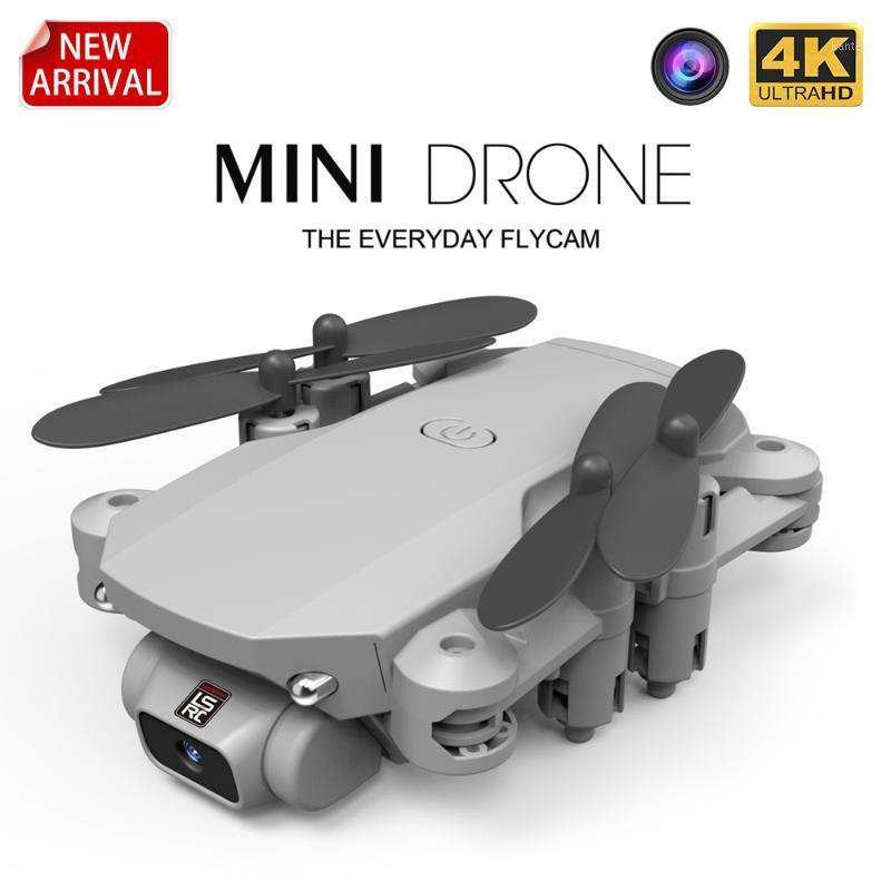 Дроны LSRC 2021 мини Дрон 4K 1080P HD камера Wi-Fi FPV Возрождение воздуха высоты воздуха Удерживайте черный и серый складной Quadcopter RC Dron Toy1