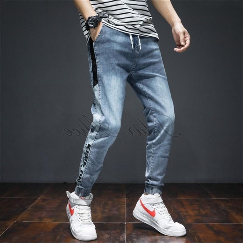 LIVRAISON GRATUITE 2020 Longueur de la cheville lâche pour hommes Longueur de la cheville Harlan Jeans mi-taille Outillage Bunch Plus Taille Pantalon occasionnel