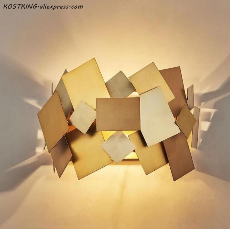 Nordic Modern Luxus Gold Edelstahl LED Wandlampe Schlafzimmer Korridor Nachttischlampe Wand sconce Beleuchtungsvorrichtungen Wohnkultur
