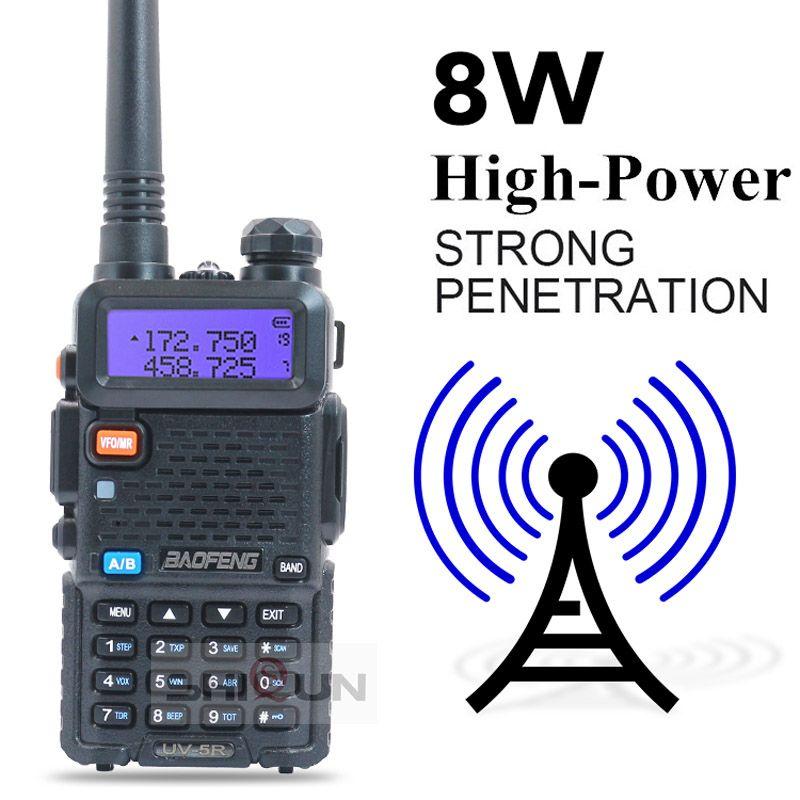 Opcional 5W 8W BAOFENG UV-5R Walkie Talkie 10 km Baofeng UV5R Walkie-Talkie Radio de caza UV 5R Baofeng UV-9R UV-82 UV-8HX UV-XR