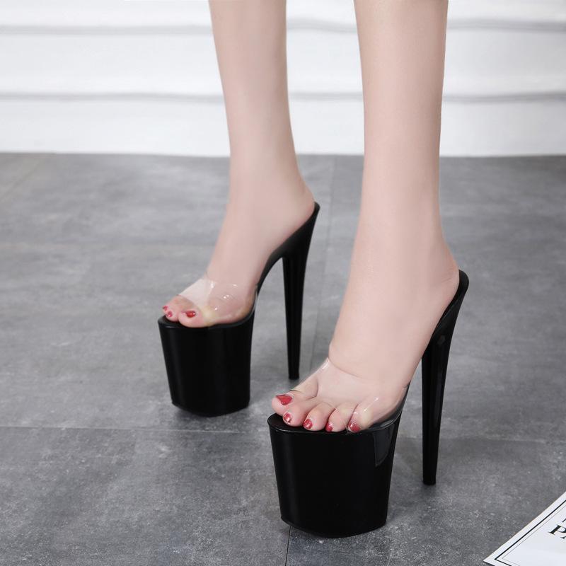 Tacchi alti sandali delle donne sottile tacco 20 centimetri sexy Sandalia Feminina 10 centimetri Donne Alta piattaforma Estate Zapatos de Mujer Scarpe donna