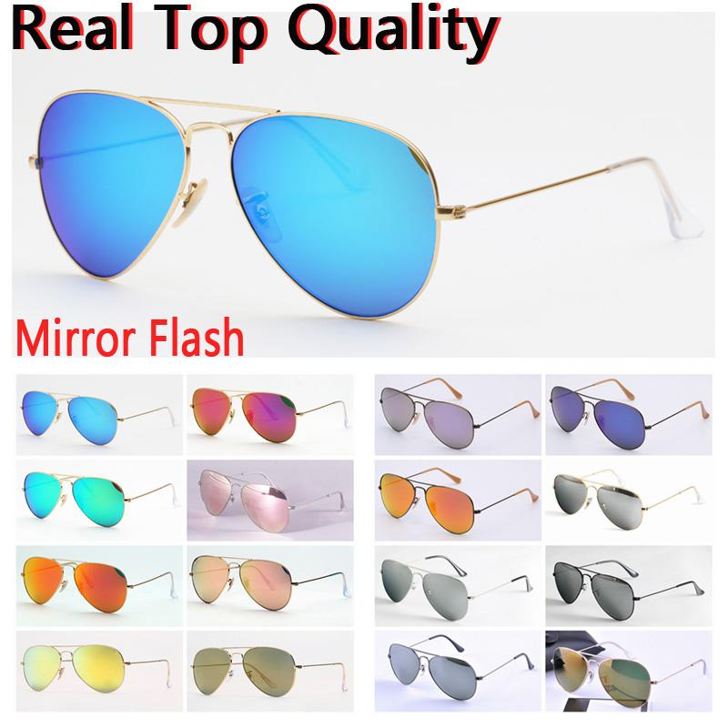 women sunglasses top quality aviation pilot sun glasses men women shades UV glass lenses with leather case, cloth, and retail accessories!