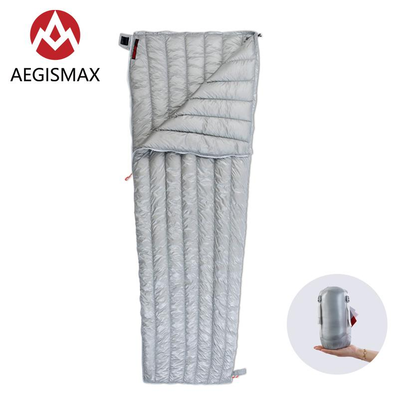 AEGISMAX Envelope Sleeping Bag White Goose Down Ultralight 800FP Warm Outdoor Camping Hiking Backpack Waterproof Sleeping Bags