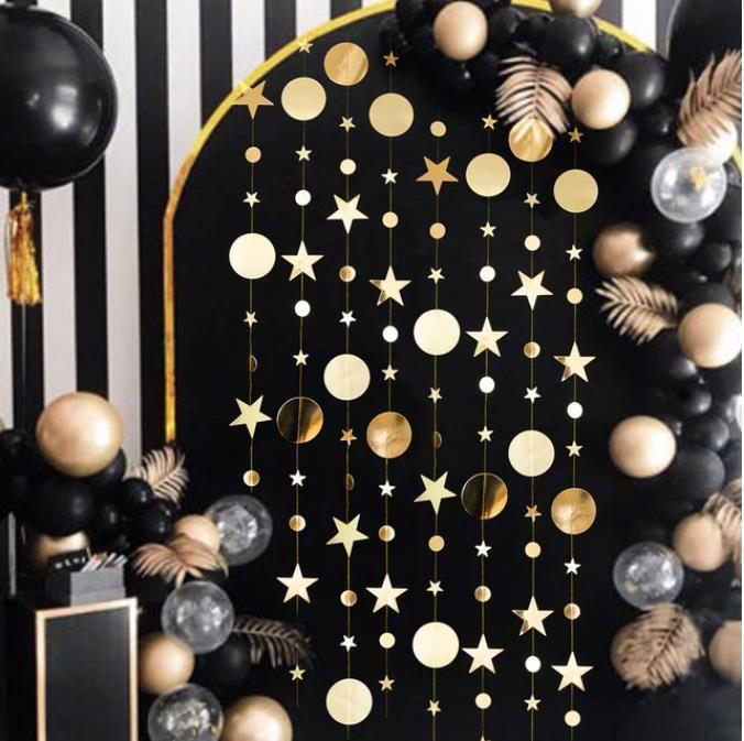 عيد ميلاد سعيد زينة للمنزل 4M وميض نجمة ورقة جارلاند السنة الجديدة نويل christmenttree الحلي كيرست نافيداد