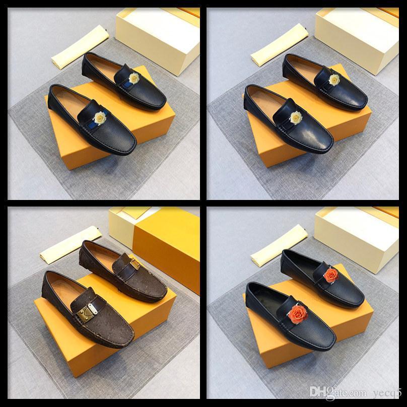 Q5 New Summer Men Sapato De Couro Moda Pontilhada Toe Dress Shoes Sapatos de Condução Soft de Alta Qualidade Alta Qualidade Plana Sapatos Casuais Lowers 11