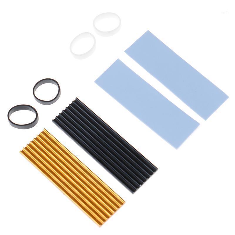 1 مجموعة الألومنيوم النقي التبريد غرفة التبريد الحرارية ل N80 NVME M.2 NGFF 2280 PCI-E SSD الملحقات 1