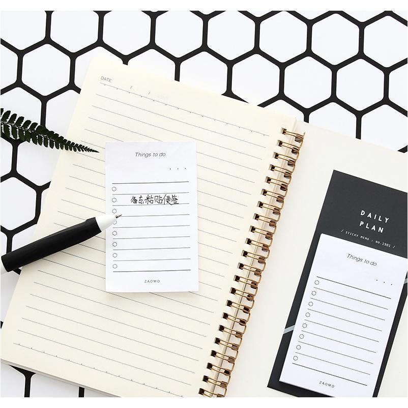 MOHAMM 50 BLATTS LOT ZUM LISTE KONTROLLIGE Haftnotizen Memo Pad Notepad Schule Bürobedarf Schreibwaren F BBYWY