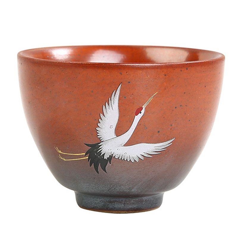 Vintage water cup Antique teacup Kiln change tea bowl home owner cup retro ceramic single tea cup