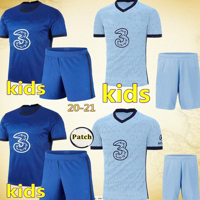 2020 2021 Football 7 N Golo Kante Jersey Set 9 Tammy Abraham 11 Timo Werner Ross Barkley kits shirt Frank Lampard de football Q-E-X