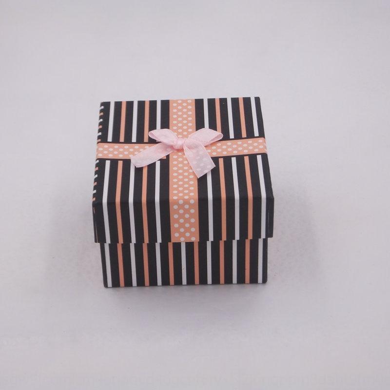 KN7ZT 선물 시계 Bowknot 블루 화이트 스트라이프 시계 보석 상자 포장 보석 상자 카톤