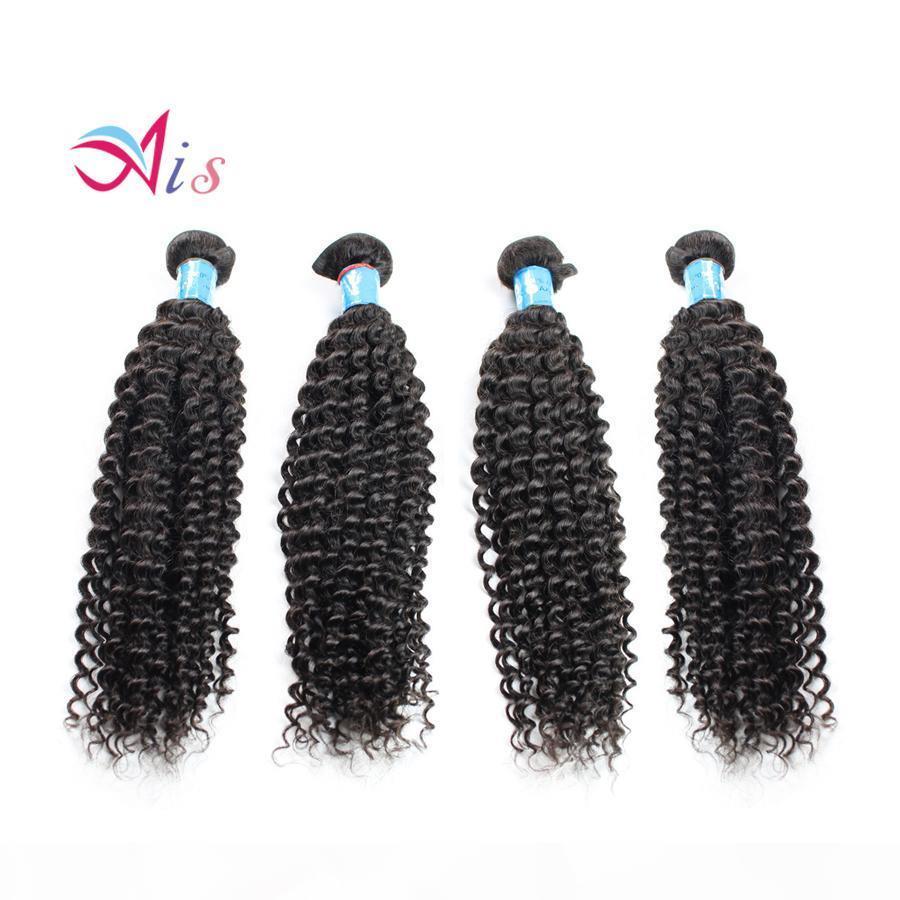 7a malaisien indien péruvien cheveux brésilien kinky bouclée cheveux humains tissée ensemble 4pcs lot malaisien idien cheveux humains