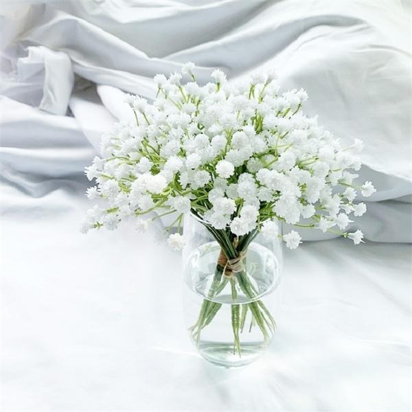 1Pcs 20cm White Babies Breath Artificial Fake Gypsophila DIY Floral Bouquets Arrangement Wedding Home Decoration Flowers