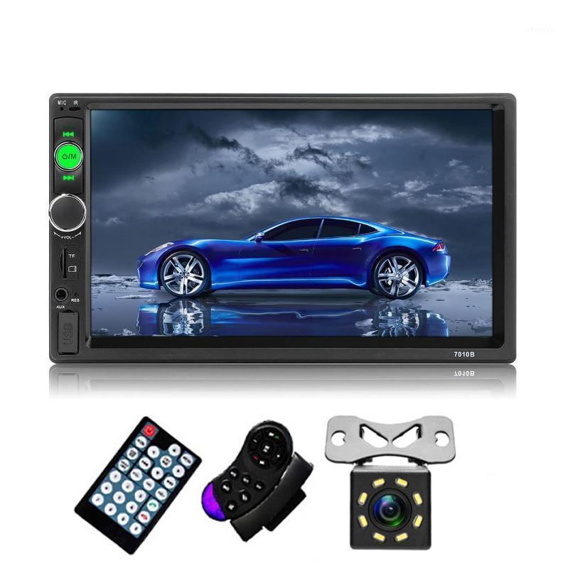 2 الدين راديو السيارة 7 بوصة مزدوجة الدين السيارات ستيريو الصوت الوسائط المتعددة MP5 لاعب مع شاشة تعمل باللمس HD بلوتوث USB كاميرا الرؤية الخلفية 1