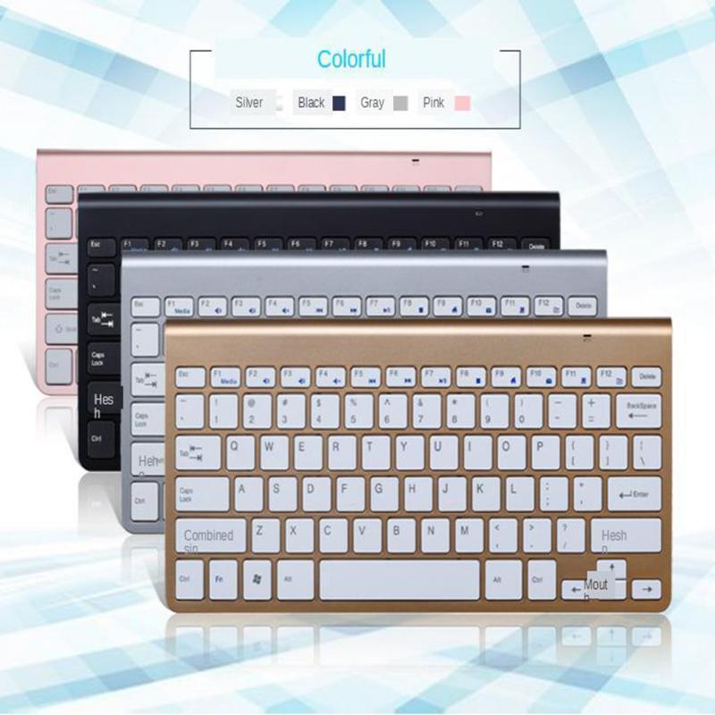 Clavier sans fil 1200DPI Portable Mouse Combo pour ordinateur Windows PC