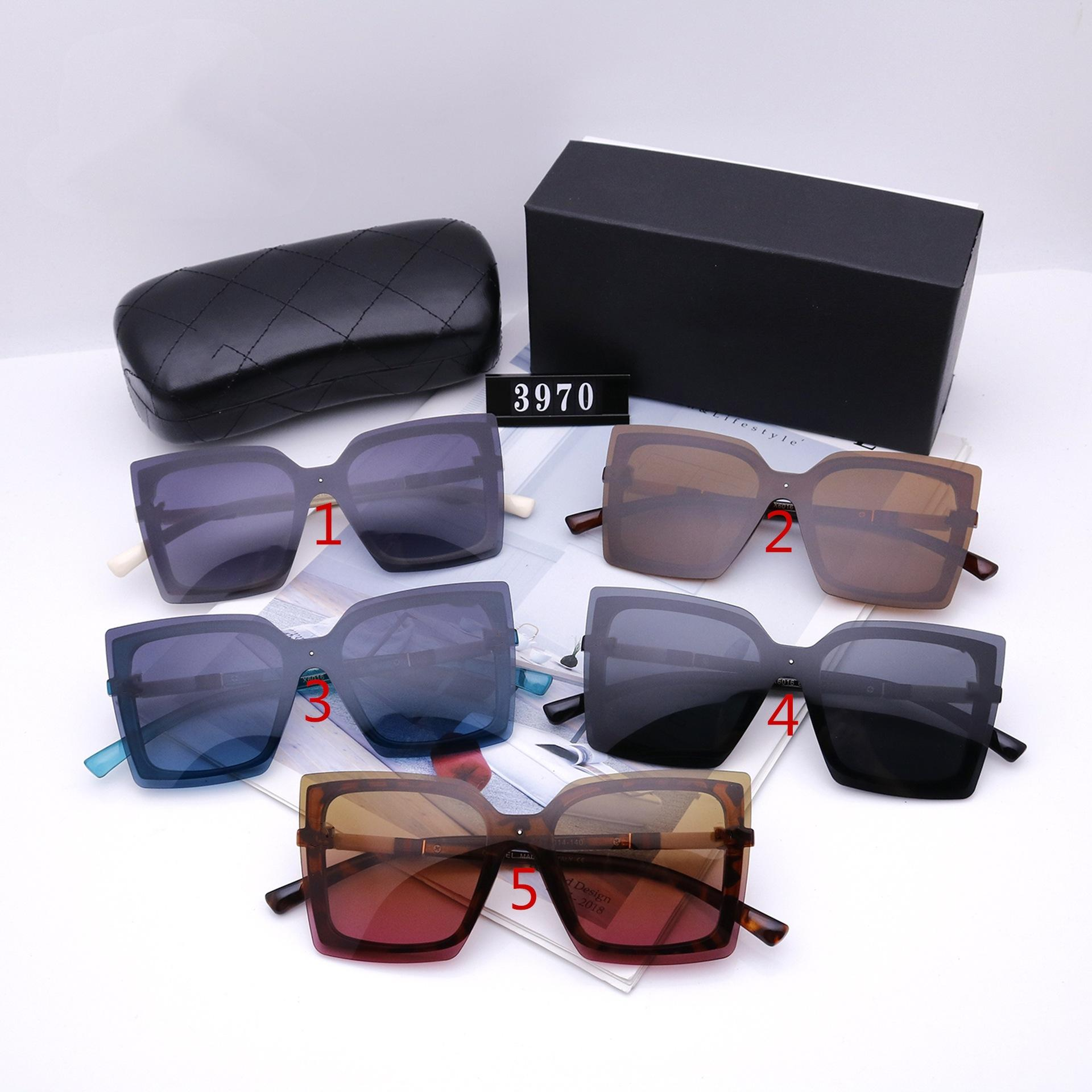 Kadınlar için Moda Güneş Gözlüğü Tasarımcı Lüks Yüksek Kalite HD Polarize Lensler Büyük Çerçeve Bayanlar Sürüş Gözlük 3970