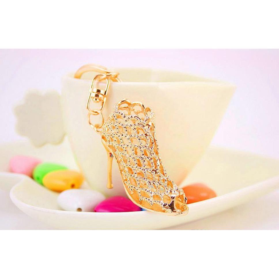 Gold Key Anillos Promoción Regalo de boda Crystal Bright High Heel Shoes Carne The Key Holder Lady Creative Bag Orna WMTMZL DH_SELLER2010