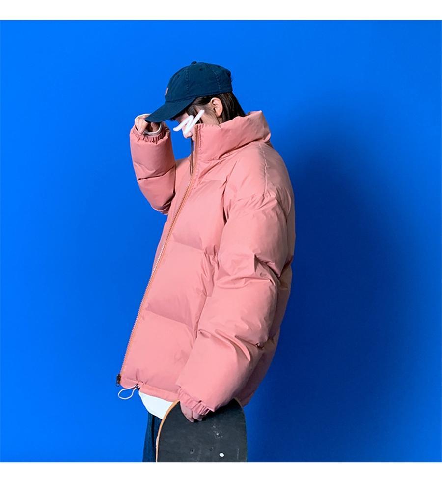 IG QLI Instagram зима плюс для мужчин Корейский рынок хлопок мягкая пиджака свободная пара читать хлопчатобумажную куртку для женщин Scooloy S-3XL # 212 # 949111