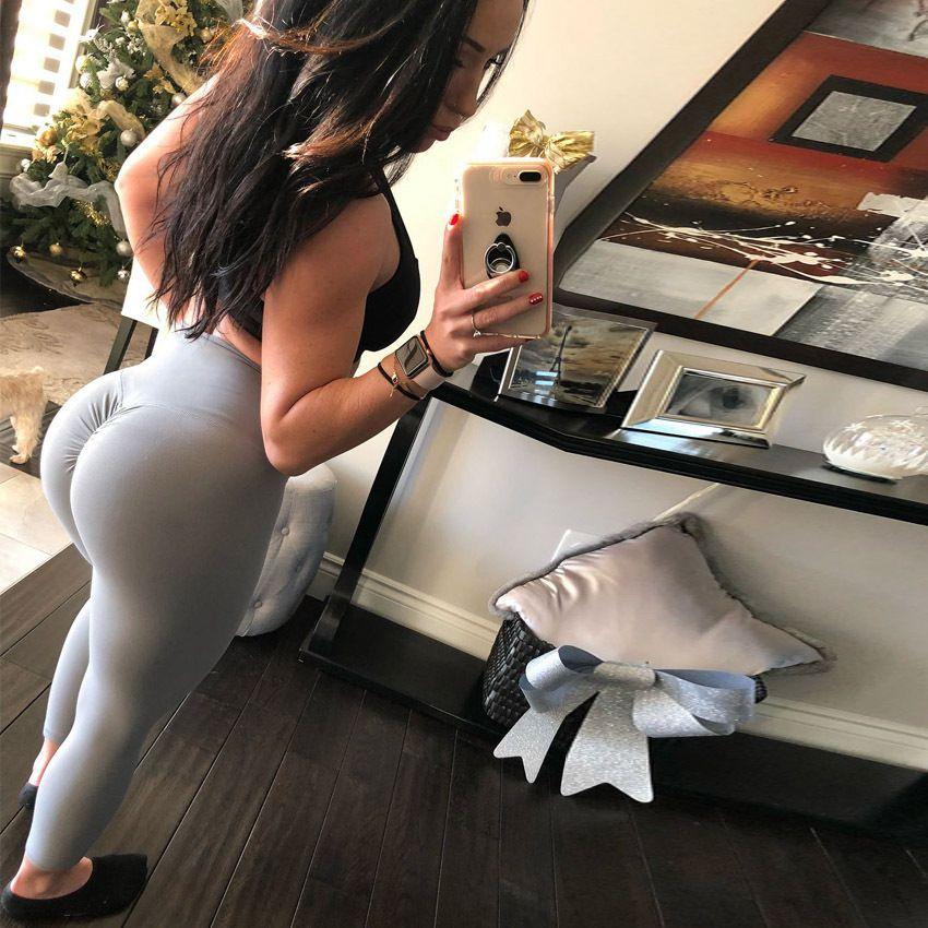 Femmes Fitness Courir Gym Slim Pantalon Yoga X1227