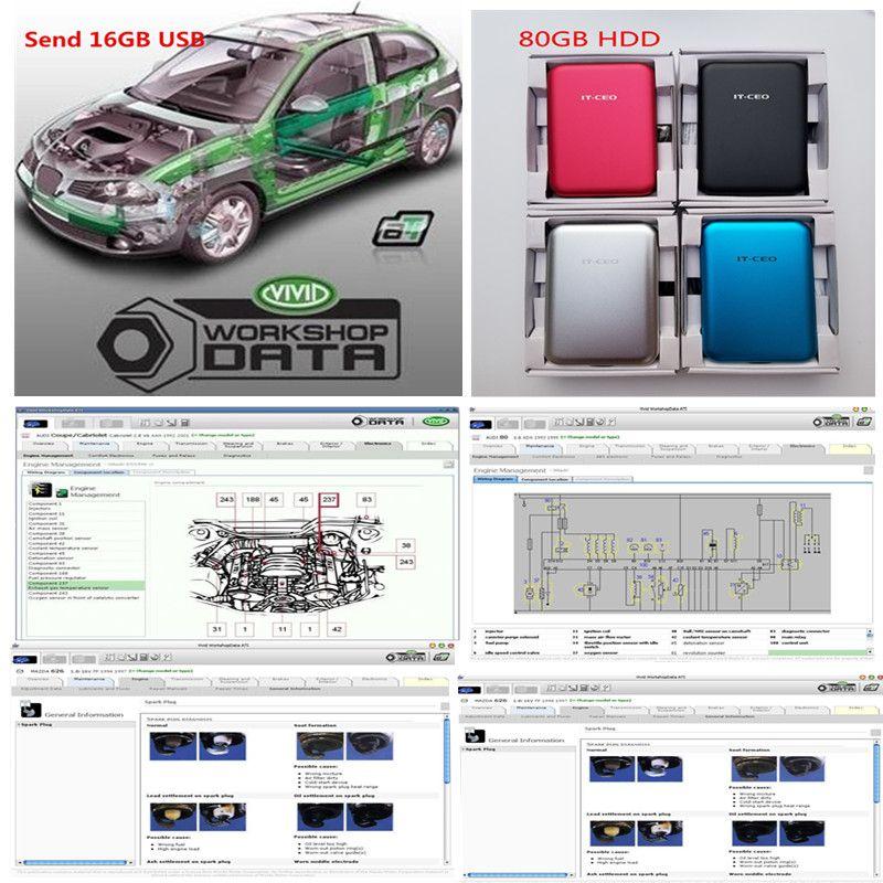 2020 Hot Auto Motive Vivid Morthyphop 10.2 Data Car Auto Repair Soft-Ware До 2010 года, Яркий семинар 10.2 в USB / HDD