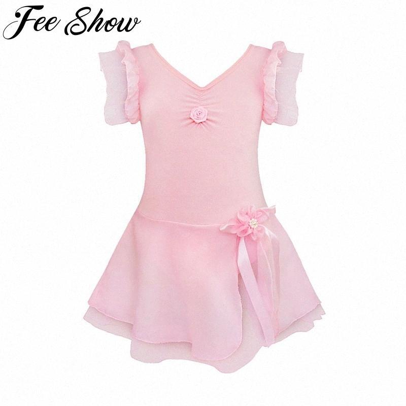 Kids Girls Tutu Ballet Dance Dress Leotard gymnastic Fancy dancewear Dance Costume leotard ballet dress ballerina kids Pj7M#