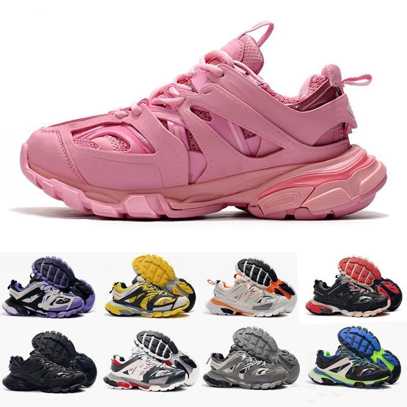 New Rose Couleur version 3.0 Tess S Paris Triple S Sneakers unique clair Casual pour Femmes Hommes Formateurs Tripler 36-45