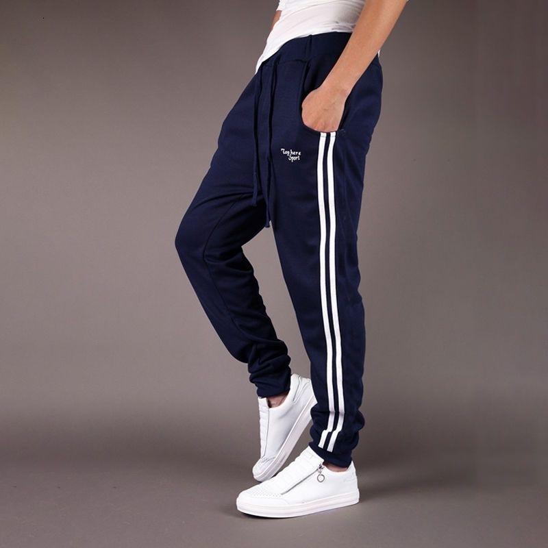 Pantalones deportivos de moda Joggers para hombre Pantalones pantalones Pantalones Casual Pantalones de pista Slim-Fit Tobillo Impreso en Running Tracksuit Oferta 20126