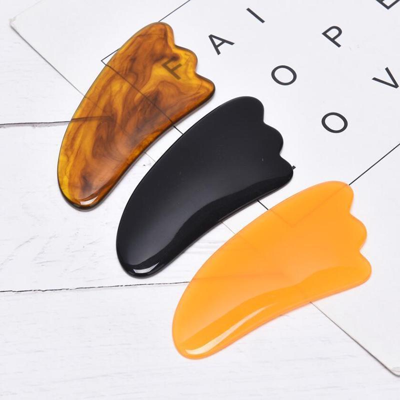 Natürliches Harz Jade Gua Sha Board Akupunktur Massage Gesicht Hubstein Guasha Kratzen Gesichtsmassage