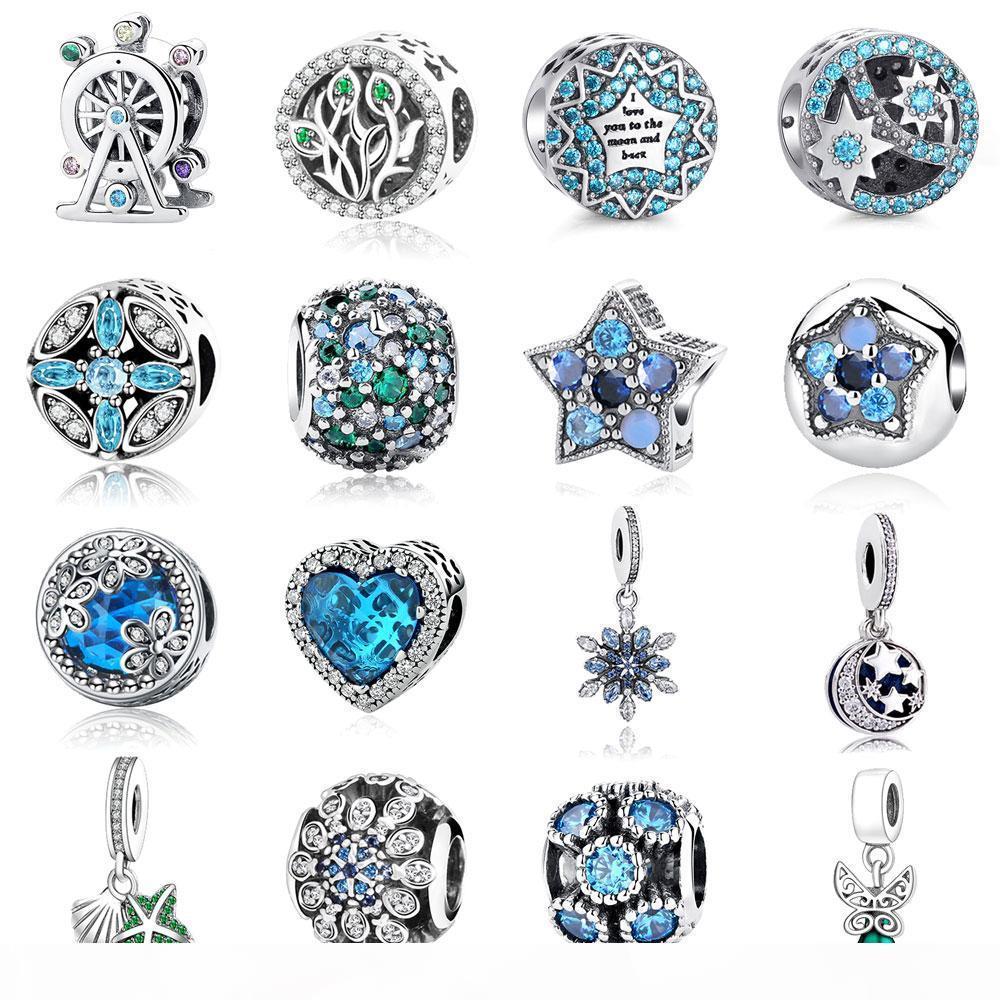 Neue 925 Sterling Silber Kreuz Liebe Herz Mutter Charme Rosa Gold Emaille Perle Fits Armband DIY Für Frauen Schmuck Zubehör Nein. 018