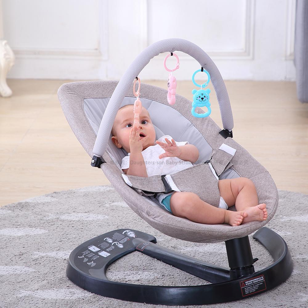 0-7 Safety Swing Bouncer Rocking For Newborn Baby Sleeping Basket Automatic Cradle With Seat Cushion Rocker Chair Q1109